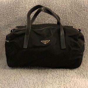 Prada Tessuto Nylon Black Bowler Bag